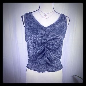 BP.  CROP SLEEVELESS ROUCH SWEATER TOP NWOT LARGE